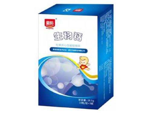 生物鈣(牡蠣夾心型凝膠糖果)