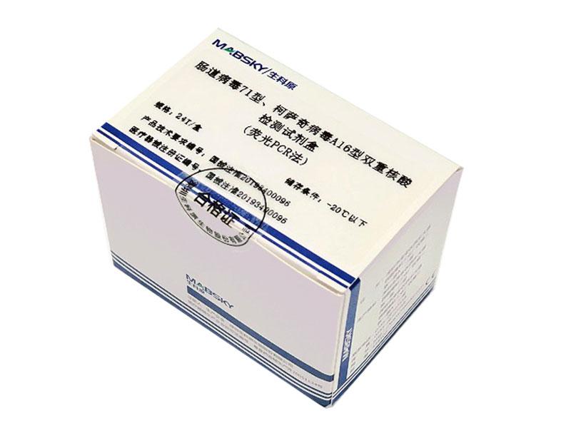 腸道病毒71型、柯薩奇病毒A16型雙重核酸檢測試劑盒(熒光PCR法)