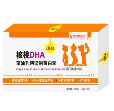 核桃DHA藻油乳鈣調制蛋白粉
