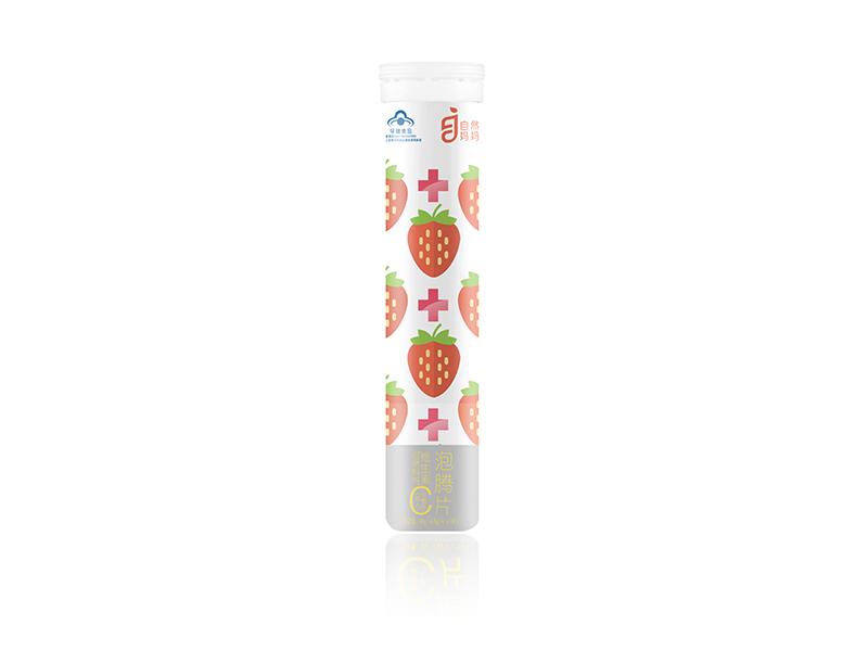 自然媽媽®維生素C泡騰片(成人)(草莓味)