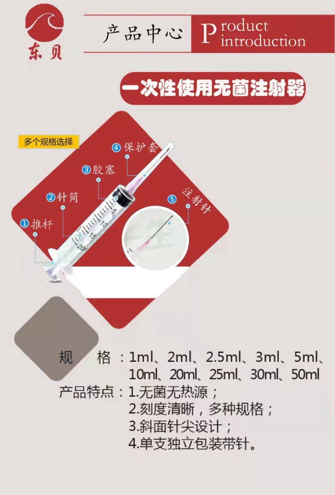一次性使用無菌注射器(針管)廠家招代理
