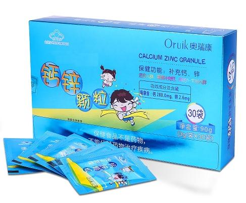 奧瑞康鈣鋅顆粒(鈣鋅同補,嬰幼兒產品)