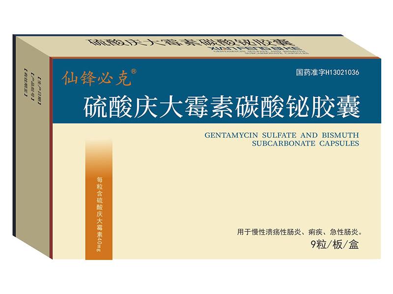 硫酸慶大霉素碳酸鉍膠囊